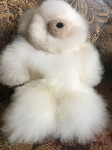 100% alpaca fur teddy bear