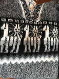 100% alpaca hooded sweater, Andean/Alpaca motif