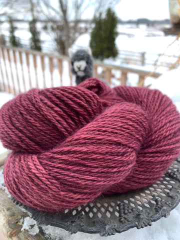 Cabernet - Yarn - Custom Milled 100% Alpaca - Green Gable Alpacas