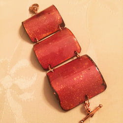 Copper and Enamel Cuff Bracelet