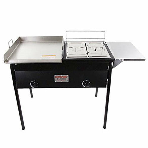 Grill and Fryer with side tray all in one - Uses Propane