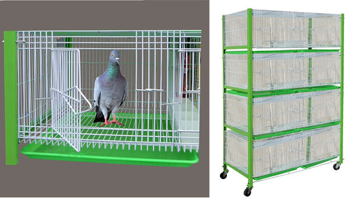 Pigeon cage 8 compartments 47x24x68H inches