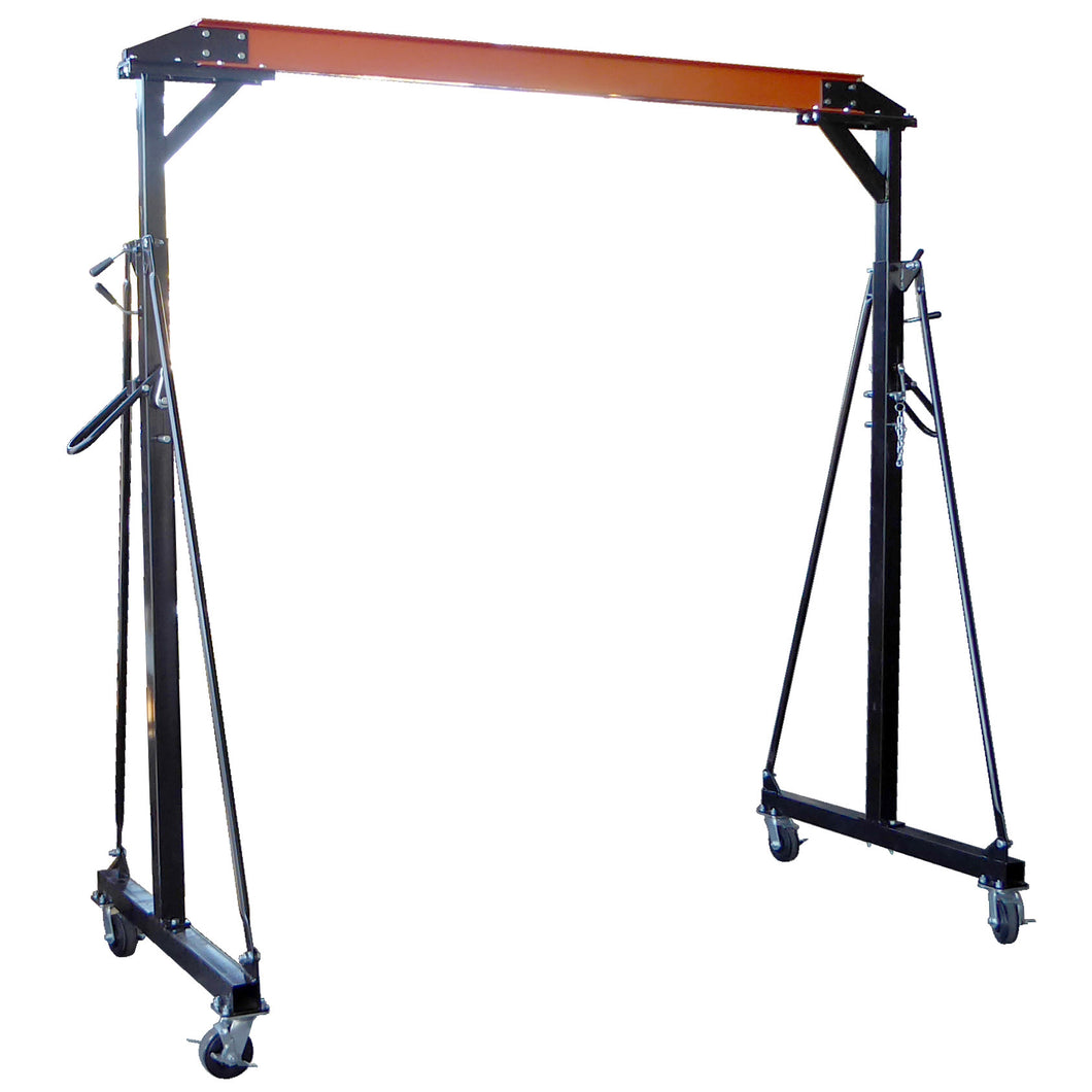 Adjustable Gantry Crane - Vertical Beam 1 Ton capacity - Adjustable From 7Ft. to 11Ft.