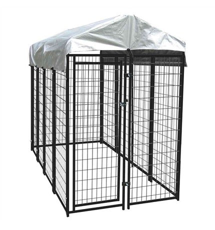 Large Dog Kennel with Top Roof Tarp - Dog Cage Playpen
