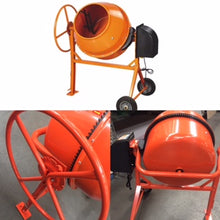 Cement mixer 8.83 CuFT Electric with wheels
