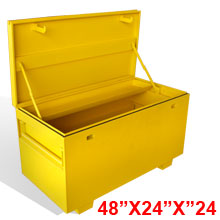 Job Site Industrial Metal Box for Tool Storage or General Use