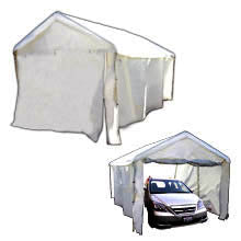 10x20 Full enclosed canopy set all metal pipes heavy duty white tarp