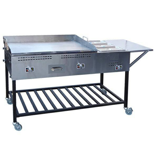 Ballington Taco Cart with 3 Steamers 20x36 inches Grill