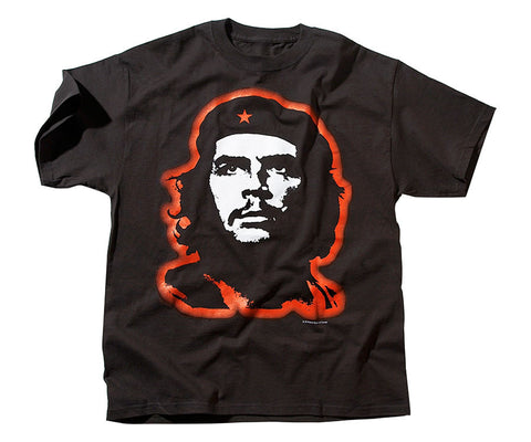 Che Guevara glowing red short sleeve black T-shirt