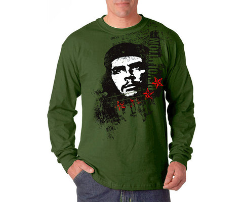 Che Guevara Revolution long sleeve military green T-shirt