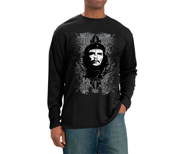 Che Guevara black wings long sleeve black T-shirt