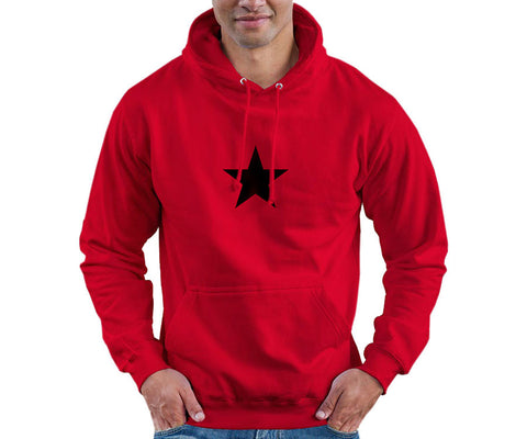 Che Guevara long sleeve, double sided red hoodie sweatshirt with pocket pouch and black star