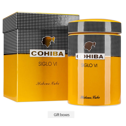 COHIBA Siglo VI Collectors Ceramic Cigar Humidor Jar with Gift Box - Free Shipping