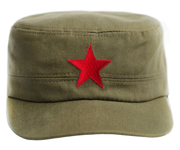 Che Guevara Army Green Military Cap Hat With Embroidered
