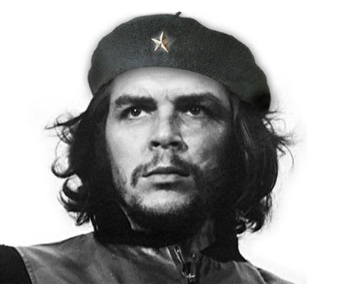 Handmade children's, replica Che Guevara, Basque-style, wool military beret with silver metal star and tip on top