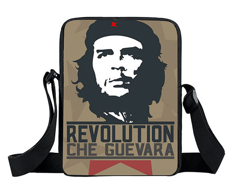 Classic Che Guevara image on nylon Cross body bag, will hold your daily essentials, phone, tablet, wallet, keys etc.