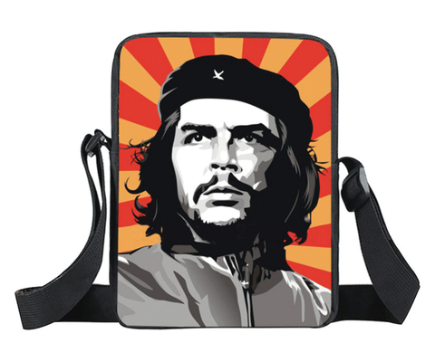 Classic Che Guevara image on nylon crossbody / messenger bag, will hold your daily essentials, phone, tablet, wallet, keys etc.