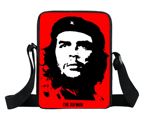 Classic Che Guevara image on nylon Cross body bag, will hold your daily essentials, phone, smaller tablet, wallet, keys etc.