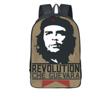 Classic Che Guevara image on nylon backpack, will hold laptops , very comfortable and durable.