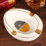 Limited Edition COHIBA Ceramic Ashtrays - 3 Cigar Holder, with gift Box. - Free Shipping