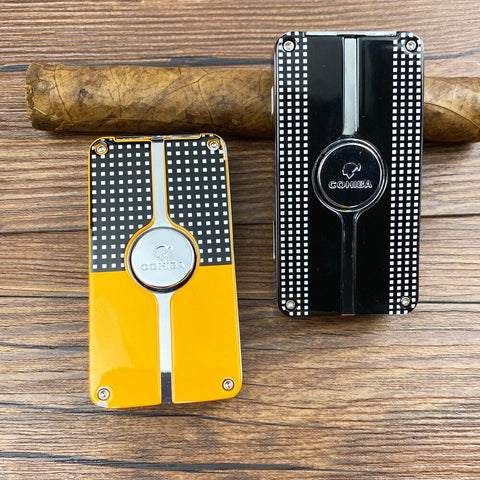 Cohiba Windproof Cigar Torch Lighter, Triple 3 Torch Jet Flame Refillable w/ Punch & Gift Box- Free Shipping