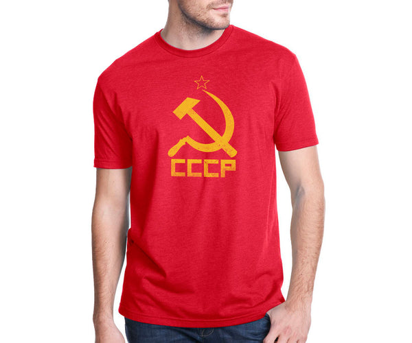 Hammer and sickle / CCCP distressed symbol T-shirt