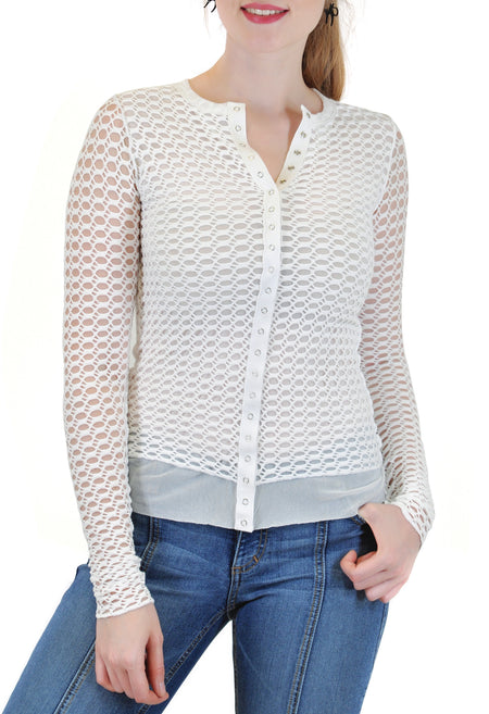 LONG SLEEVE RIB WITH SHOULDER YOKE