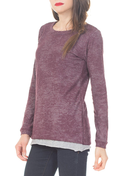 DELICATE LACE THREE LAYER SWEATER - PTJ TREND: Women's Designer Clothing