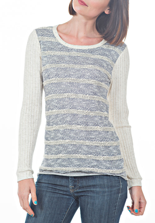 VNECK LONG SLEEVE TOP - PTJ TREND: Women's Designer Clothing