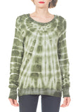 SLEEVE TIE DYE TOP - PTJ TREND: Women's Designer Clothing