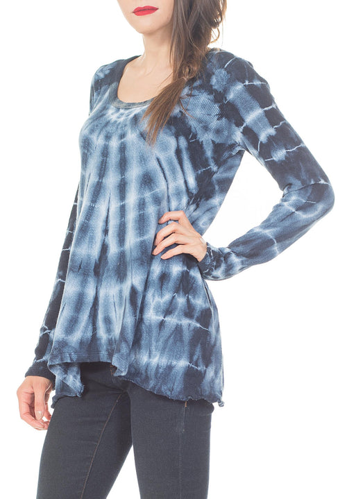 LONG SLEEVE  TIE DYE TOP - PTJ TREND: Women's Designer Clothing