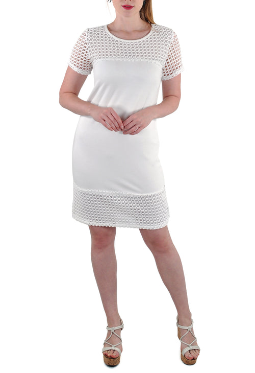 SHORT SLEEVE DRESS CROCHET