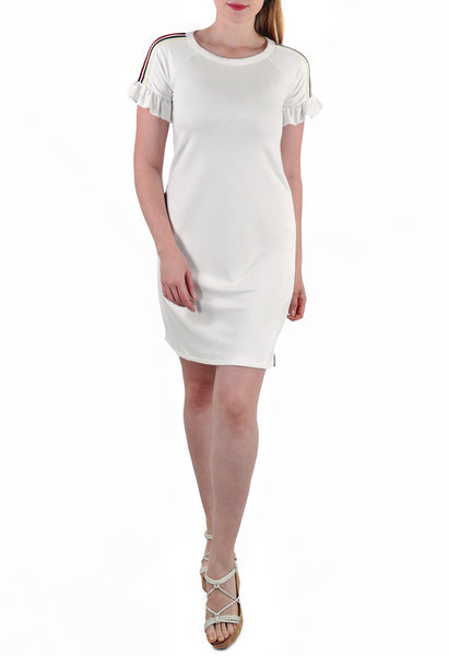 SHORT SLEEVE MID LENGTH DRESS