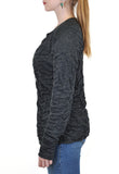LONG SLEEVE  DOUBLE FACE ZIP UP CARDIGAN