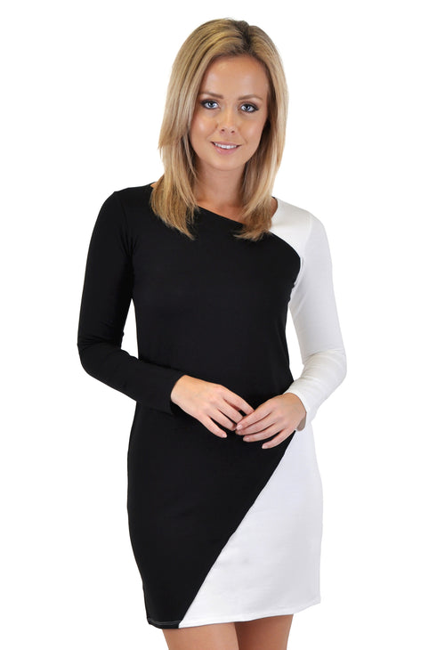 SURPLICE NECK BODYCON DRESS