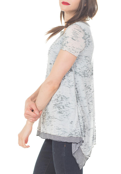SCOOP NECK WELT BACK TOP