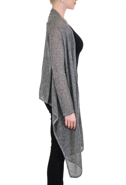 HI-LO  SHEER CARDIGAN