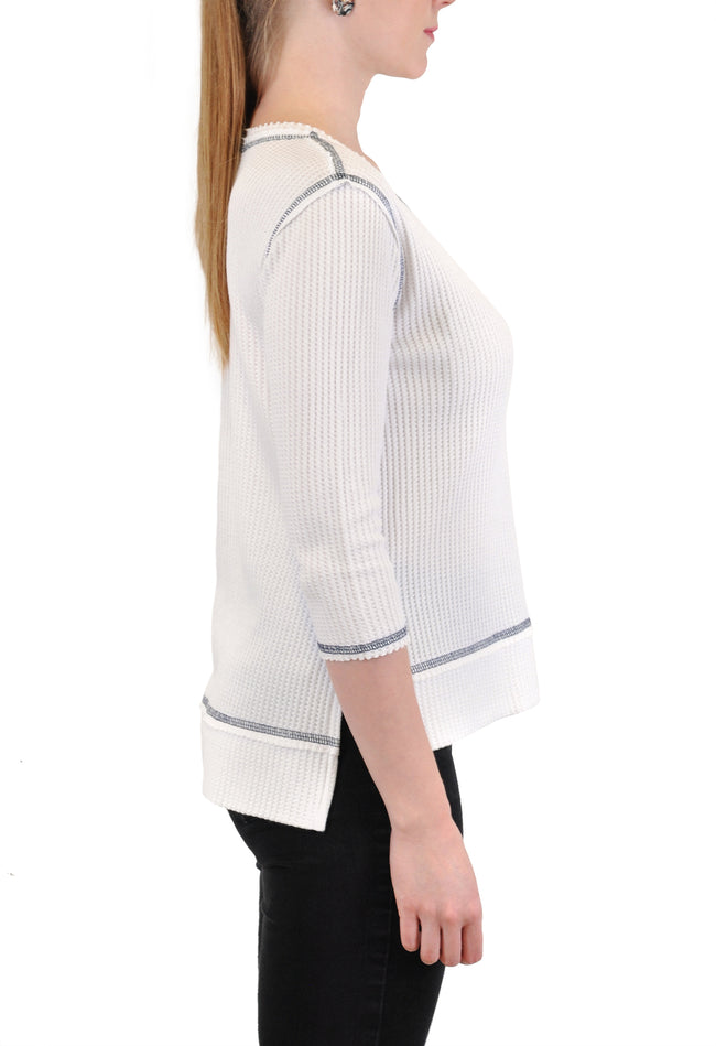 3/4 SLEEVE CREW NECK TUNIC