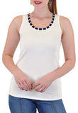 TANK WITH STRIPE NECKLINE