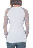 CROCHET BASEBALL TEE - PTJ TREND: Women's Designer Clothing