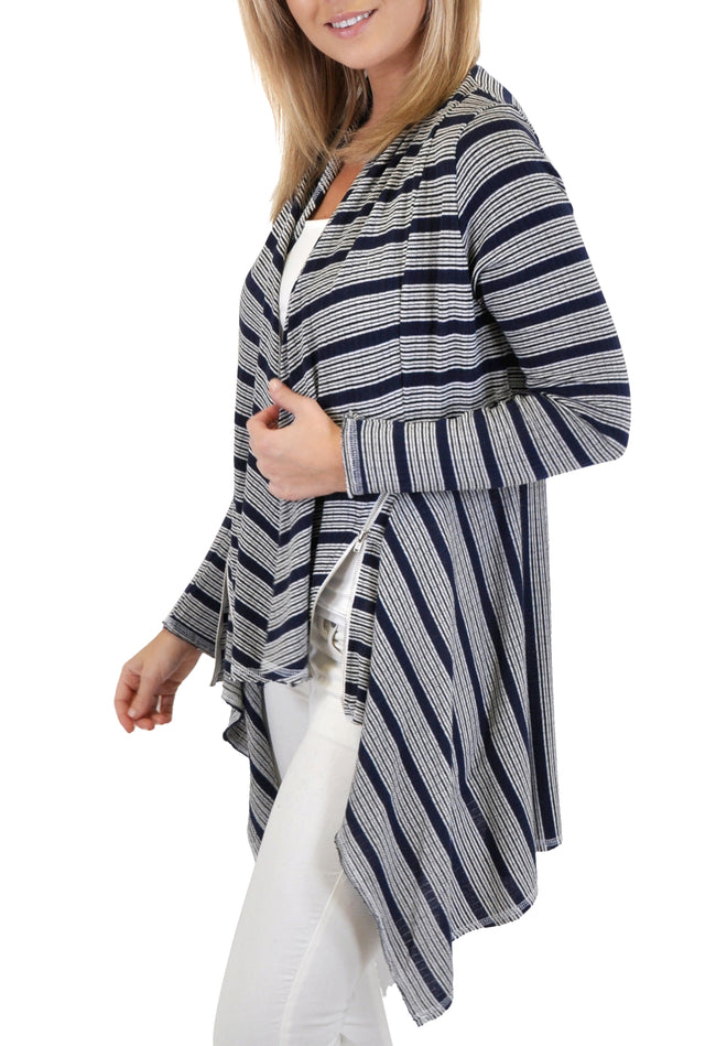 LONG SLEEVE CARDIGAN SIDE ZIPPER