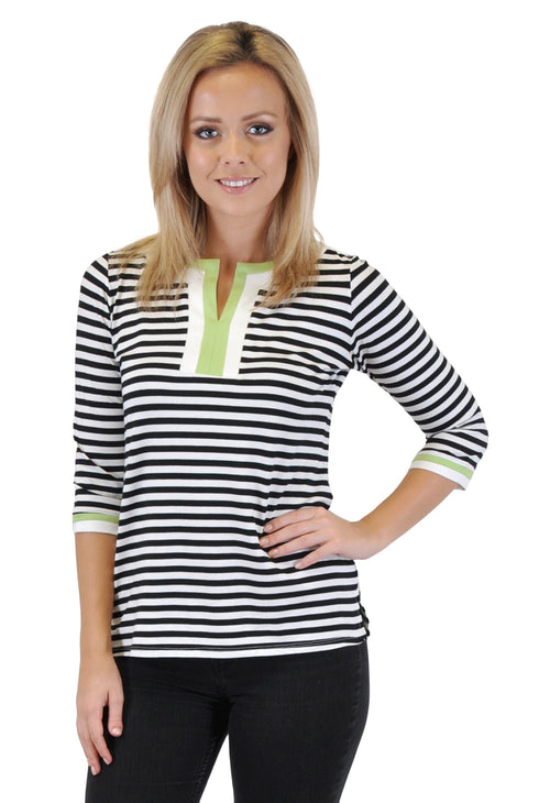 QUARTER SLEEVE  STRIPES TUNIC