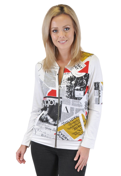 NEWSPAPER BOMBER JACKET