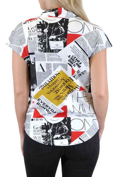 NEWSPAPER DRAPE TOP