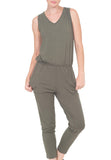 SLEEVELESS JUMP SUIT WITH BACK KEYHOLE - PTJ TREND: Women's Designer Clothing