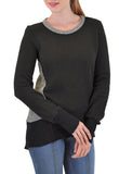 LONG SLEEVE CREW  ASSYMETRICAL BACK