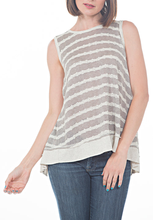 BACK OVERLAP TANK TOP - PTJ TREND: Women's Designer Clothing