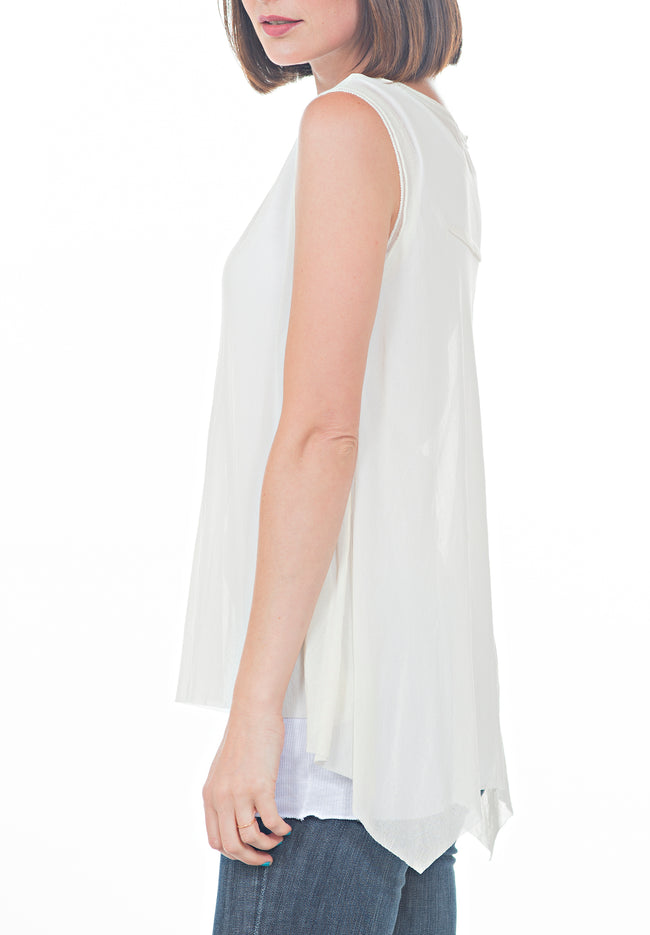 SLEEVELESS LAYERED TOP - PTJ TREND: Women's Designer Clothing