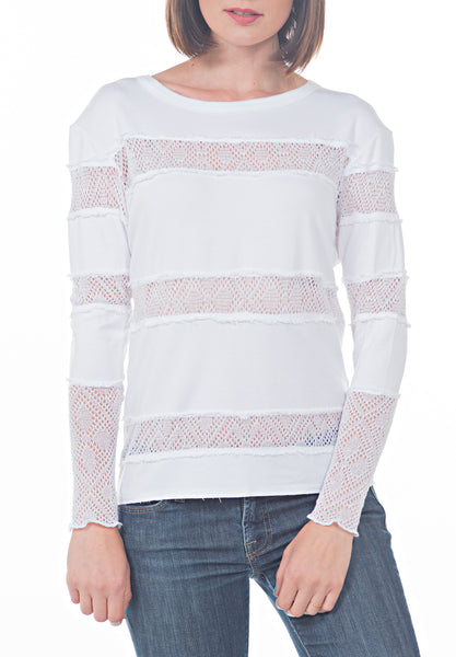 LS CREW NECK TOP - PTJ TREND: Women's Designer Clothing