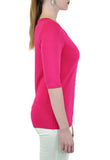 3/4 SLEEVE TOP WITH SNAPS